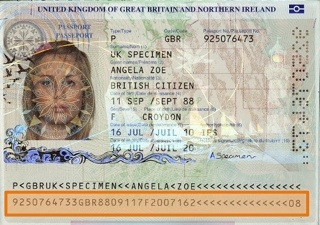 UK Specimin Passport